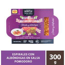 Espirales-Albondigas-salsa-Pomodoro-tomate-Whistle-Gourmet